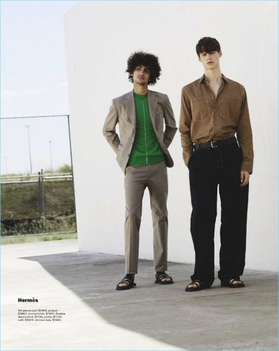 Trè Samuels, Ethan Turnbull & Conlan Munari Model Spring Collections for GQ Australia