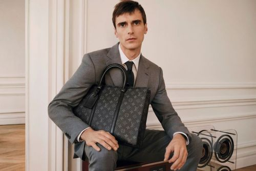 The New Formals: Clément Poses with Louis Vuitton Bags