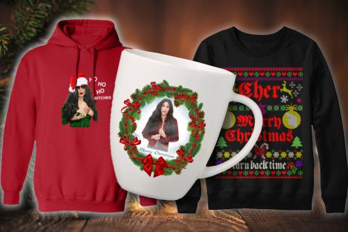 Cher's ugly Christmas sweaters are the most Cher thing ever