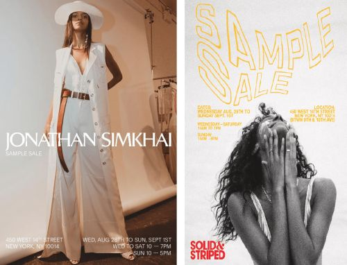 JONATHAN SIMKHAI AND SOLID & STRIPED SAMPLE SALE, Aug 28th - Sept 1st, New York