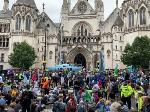 Extinction Rebellion block roads in London, Glasgow, and other UK cities