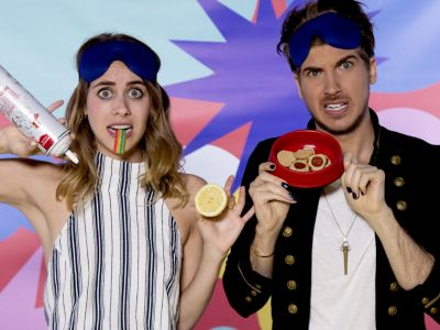 Watch Lucie & YouTuber Joey Graceffa Play 'What's In My Mouth'
