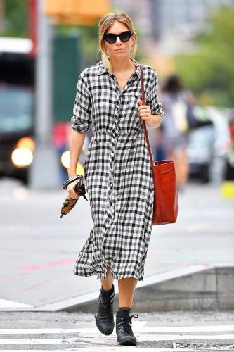 Sienna Miller's Zara Dress Looks Perfect With Ankle Boots