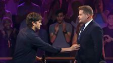 James Corden Roasts Ashton Kutcher's Marriage To Mila Kunis