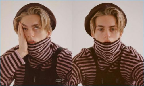 Dominik Sadoch Models Eclectic Knits for Hero Magazine