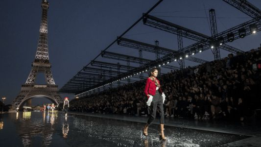 Anthony Vaccarello's Glam-Rockers Walk on Water at Saint Laurent