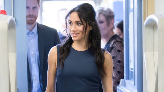 Meghan Markle Wore a Thing: Navy Roksanda Dress in Australia Edition
