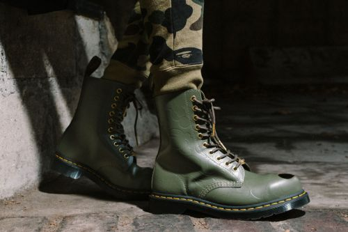 The BAPE x Dr. Martens Steel Toe Boots Get Spotlighted in New Lookbook