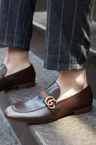 The timeless Gucci loafer gets a modern-day update with gold