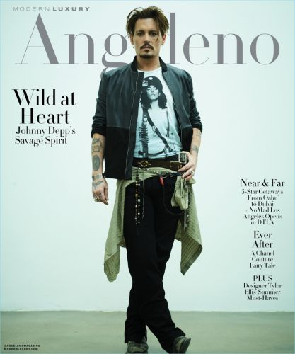 Johnny Depp Covers Modern Luxury, Talks Captain Jack Sparrow