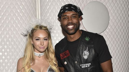 DeMario Jackson and Corinne Olympios Got Cozy Together at a Halloween Party