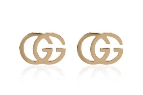"Gucci's 18K Gold ""GG"" Motif Running Earrings Are a Signature Summer Statement"