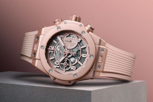 Hublot and Garage Italia Celebrate Inclusivity With Millennial Pink Big Bang Chronograph