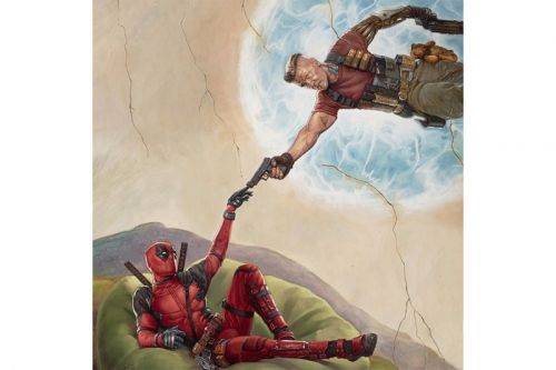 Deadpool and Cable in Michelangelo-Inspired 'Deadpool 2' Poster