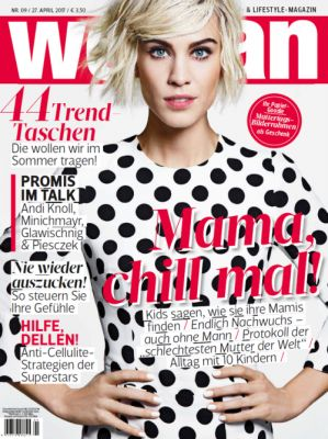 Alexa Chung in Dolce&Gabbana on the cover of Woman Austria