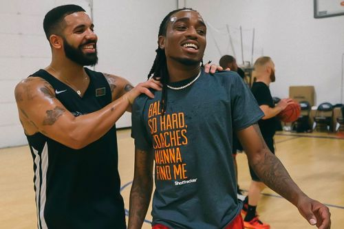 Watch Drake Lose a $10K Bet After Quavo Hits a Half-Court Shot