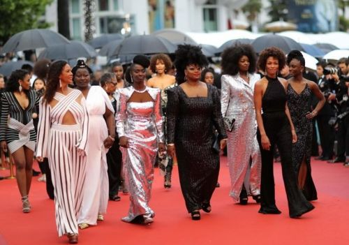 Black women protest racism in the French film industry at Cannes