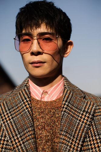 On the Street.At Gucci, Milan
