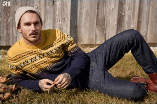 Simons Navigates This Season's Sweaters with David Alexander Flinn
