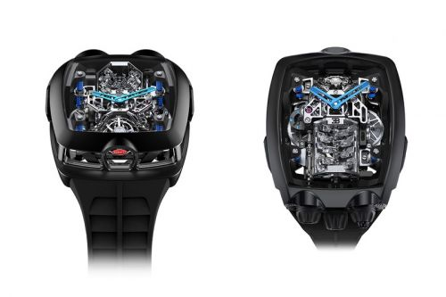 The Bugatti x Jacob & Co. Chiron Tourbillon Hides a Working 16-Cylinder Engine