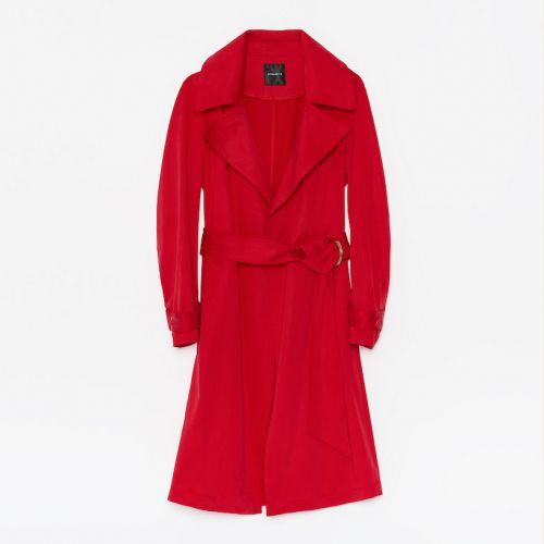 Bright Red Is the Hottest Update For Your Spring Coat