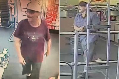 Call the 'fashion police' on this 'jorts-wearing bandit': cops