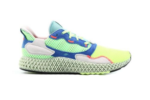 """Adidas' ZX 4000 4D Gets Highlighter-Hued """"Easy Mint"""" Makeover"""