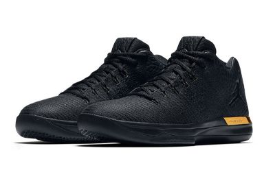 The Air Jordan 31 Low Gets Outfitted in All-Black and Metallic Gold