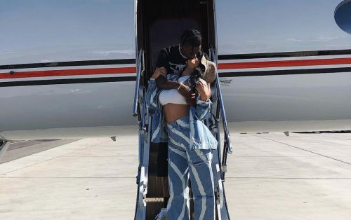 Kylie Jenner and Travis Scott Make Out Before Boarding Private Jet to Coachella!