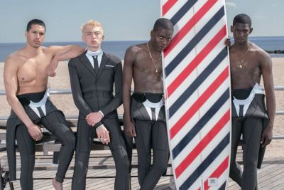 Thom Browne Heads to the Beach to Flaunt Its Sophisticated Take on the Wetsuit