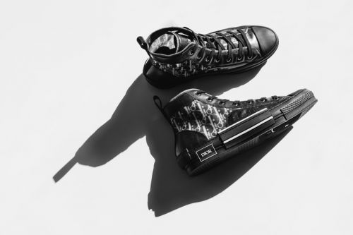 "An Exclusive Look at Dior's B23 High-Top Sneaker in ""Black Oblique"""