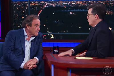 Oliver Stone defends 'abused' Putin in Colbert interview