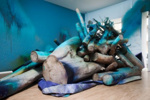 """Katharina Grosse's """"Prototypes of Imagination"""" Exhibit Will Be a Color Explosion"""