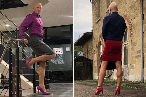 Married father of 3 wears skirts, heels to work because 'he can'