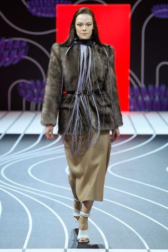 Prada's Fall/Winter 2020 Runway Proves Belts & Fringe Are the New Black