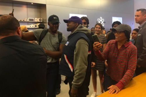 Kanye West Gives Impromptu Speech at Apple Store Following White House Visit