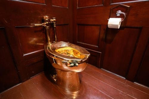 Maurizio Cattelan's $5 Million USD Gold Toilet Was Stolen from the Blenheim Palace