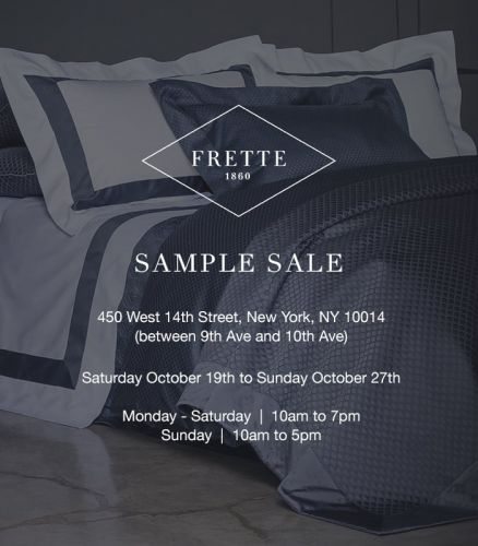 FRETTE SAMPLE SALE, 10/19 - 10/27, New York