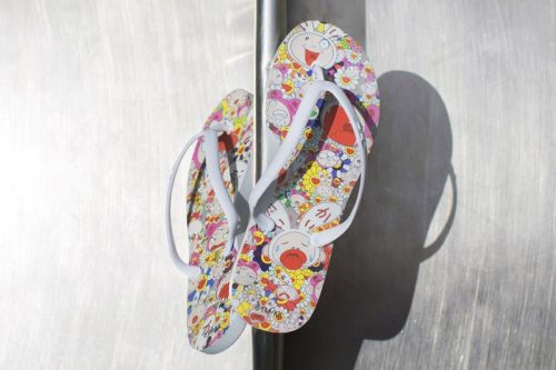 Murakami x TIDAL New York Create Exclusive Flip Flops for The Broad Museum