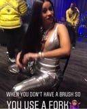 Cardi B Couldn't Find a Hairbrush, So She Improvised in the Best Way