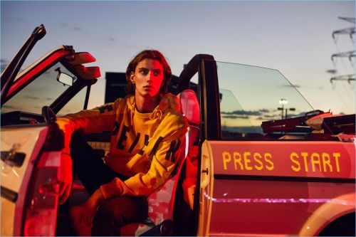 Press Start: Martin Vicente Models Fall '18 Fashions for Pepe Jeans