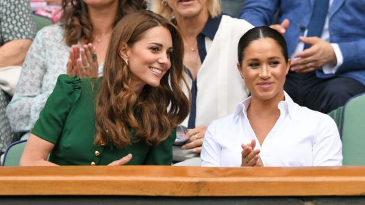 Meghan Markle and Kate Middleton Have a Fun Girls Day Out Together at Wimbledon!