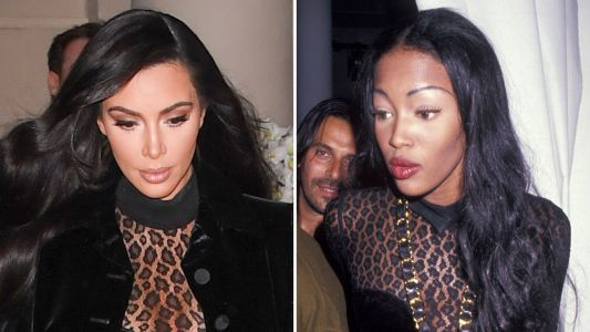 Kim Kardashian Responds to Claims That She's Copying Naomi Campbell's Past Looks