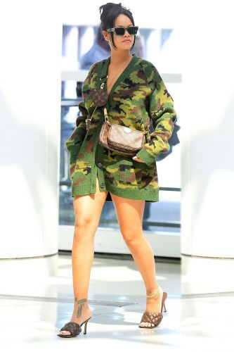 Only Rihanna Can Get Away With Wearing This Pantsless Look to the Airport