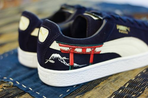 The PUMA Suede Sees a Traditional Ukiyo-E Custom