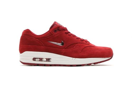 "Nike Releases Air Max 1 Premium Jewel in ""Team Red"""