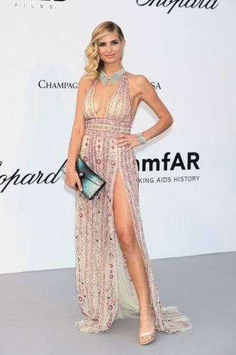 Xenia Adonts looked amazing in a pink tulle embroidered dress