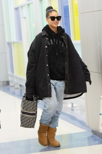 Rihanna Just Made Ugg Boots Look Ridiculously Cool at the Airport