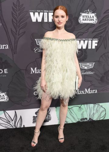A lovely Madelaine Petsch wearing Georges Hobeika Haute Couture
