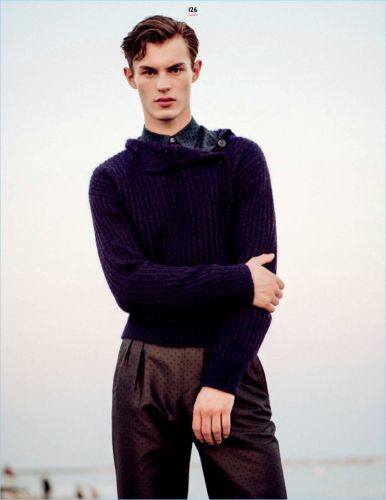 Kit Butler, Augusta Alexander & Jacob Hankin Model Sweaters for GQ Style Russia